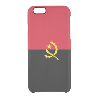 Flag of Angola Clear iPhone Case