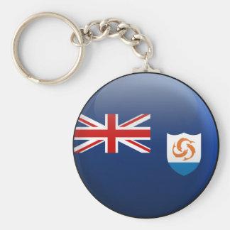 Flag of Anguilla Basic Round Button Keychain