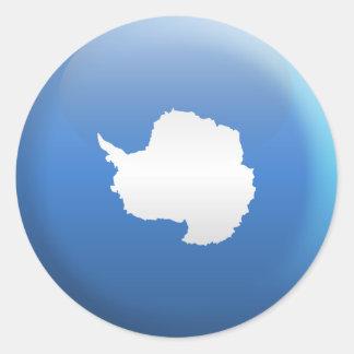 Flag of Antarctica Classic Round Sticker