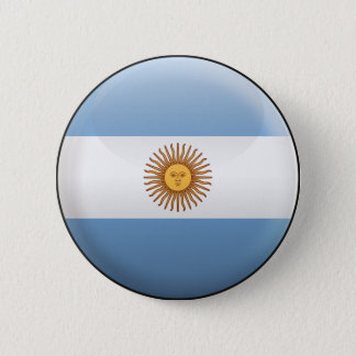 Flag of Argentina 2 Inch Round Button