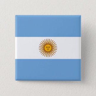 Flag of Argentina 2 Inch Square Button