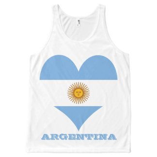 Flag of Argentina All-Over-Print Tank Top