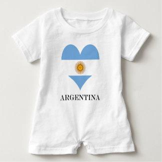 Flag of Argentina Baby Romper