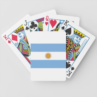 Flag of Argentina - Bandera de Argentina Bicycle Playing Cards