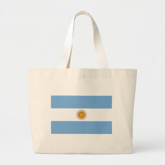 Flag of Argentina - Bandera de Argentina Large Tote Bag
