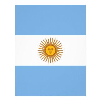 Flag of Argentina - Bandera de Argentina Letterhead