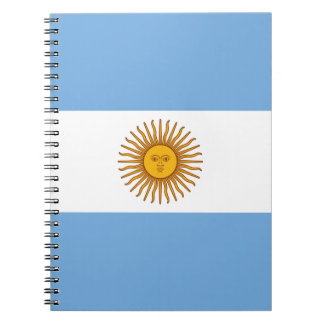 Flag of Argentina - Bandera de Argentina Note Books