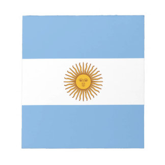 Flag of Argentina - Bandera de Argentina Notepad