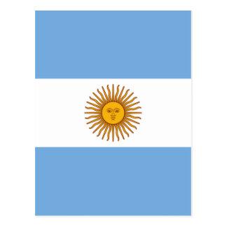 Flag of Argentina - Bandera de Argentina Postcard