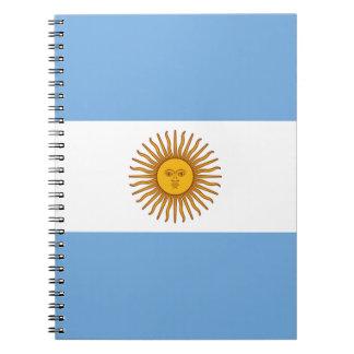 Flag of Argentina - Bandera de Argentina Spiral Notebooks