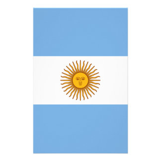 Flag of Argentina - Bandera de Argentina Stationery