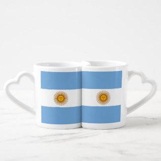 Flag of Argentina Coffee Mug Set