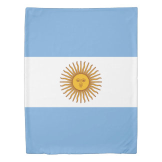 Flag of Argentina Duvet Cover