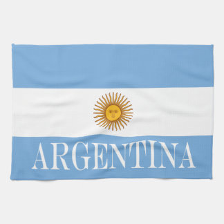 Flag of Argentina Kitchen Towel