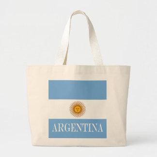 Flag of Argentina Large Tote Bag