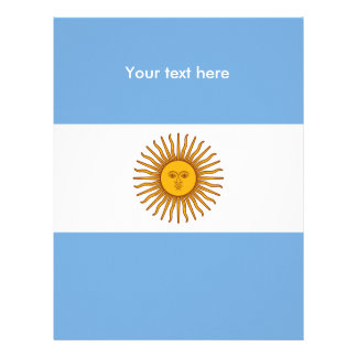 Flag of Argentina Letterhead