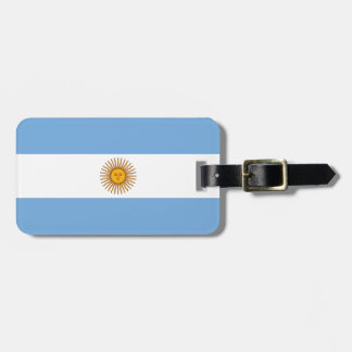 Flag of Argentina Luggage Tag w/ leather strap