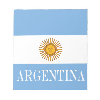 Flag of Argentina Notepad