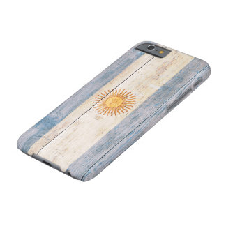 Flag of Argentina on Wood Barely There iPhone 6 Case