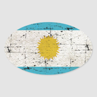 Flag of Argentina Oval Sticker
