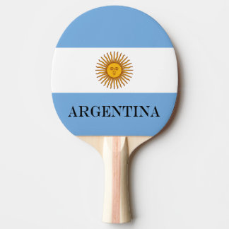 Flag of Argentina Ping Pong Paddle