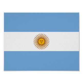 Flag of Argentina Poster