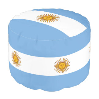 Flag of Argentina Pouf