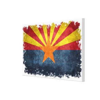 Flag of Arizona in vintage retro style Canvas Print