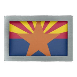 Flag Of Arizona Rectangular Belt Buckles