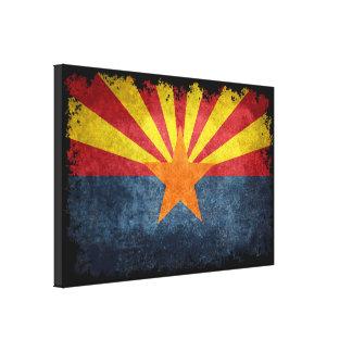 Flag of Arizona - retro style Canvas Print