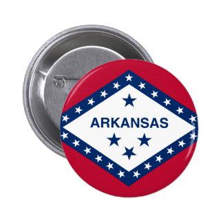 Flag of Arkansas 2 Inch Round Button