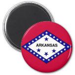 Flag of Arkansas 2 Inch Round Magnet