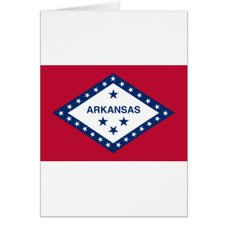 Flag Of Arkansas Card