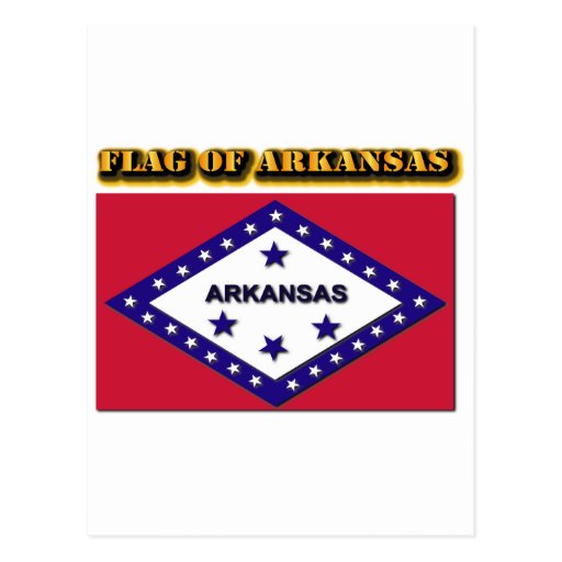 Flag of Arkansas Post Card