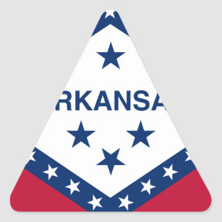 Flag Of Arkansas Triangle Sticker