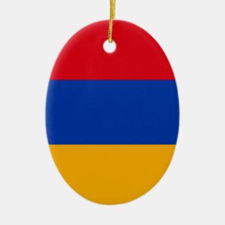 Flag of Armenia - Yeraguyn Ceramic Oval Ornament