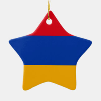 Flag of Armenia - Yeraguyn Ceramic Star Ornament