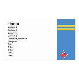 Flag of Aruba Business Card