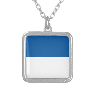 Flag of Assen Silver Plated Necklace