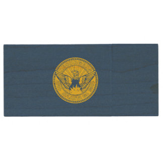 Flag of Atlanta, Georgia Wood USB Flash Drive