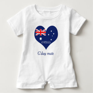 Flag of Australia Baby Romper