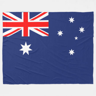 Flag of Australia Fleece Blanket