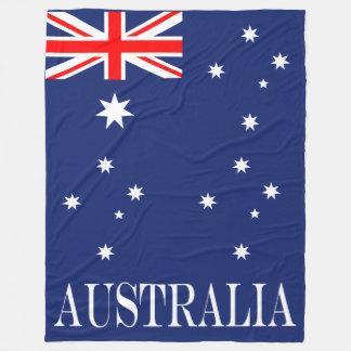 Flag of Australia Fleece Blanket