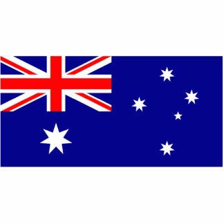Flag of Australia Photo Sculpture Keychain