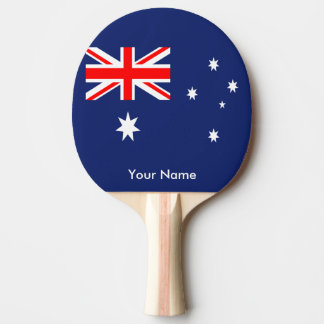 Flag of Australia Ping-Pong Paddle