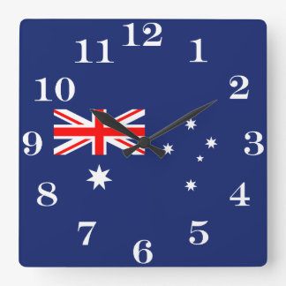 Flag of Australia Square Wall Clock