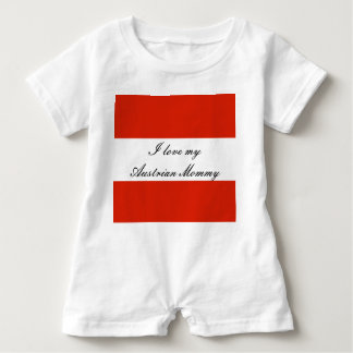 Flag of Austria Baby Romper