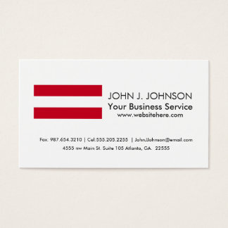 Flag of Austria Business Card
