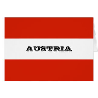 Flag of Austria Card
