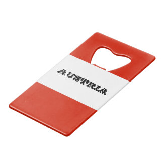 Flag of Austria Credit Card Bottle Opener